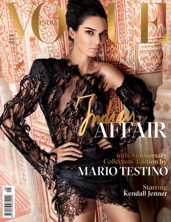 Kendall Jenner pojawiła się na okładce Vogue India i zaliczyła kolejną WTOPĘ!