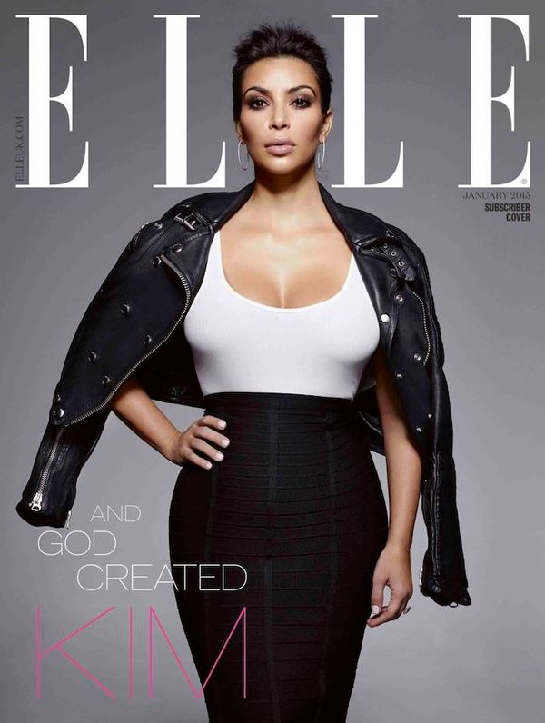 Kontrowersje wokół okładki Elle z Kim Kardashian!