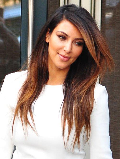 kim kardashian zafundowa�a sobie ombre hair foto