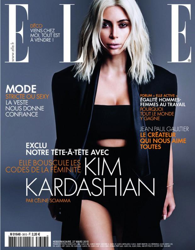 Kim Kardashian na okładce kolekcjego ELLE (FOTO)
