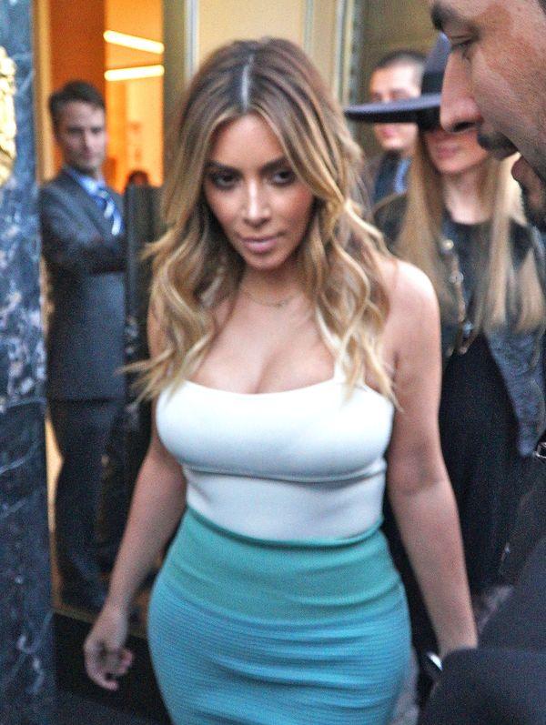 Kim Kardashian wypadają włosy