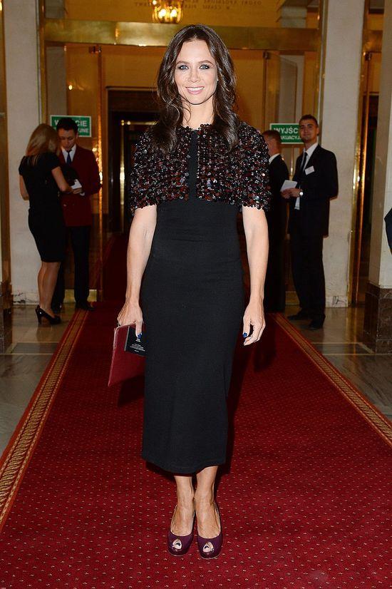 Kinga Rusin na premierze w Operze Narodowej (FOTO)