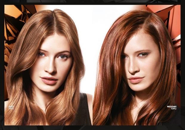 Włosy w kolorach topazu