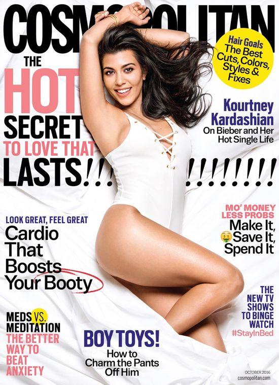 Seksowna Kourtney Kardashian pokazuje ciało w najnowszym Cosmo
