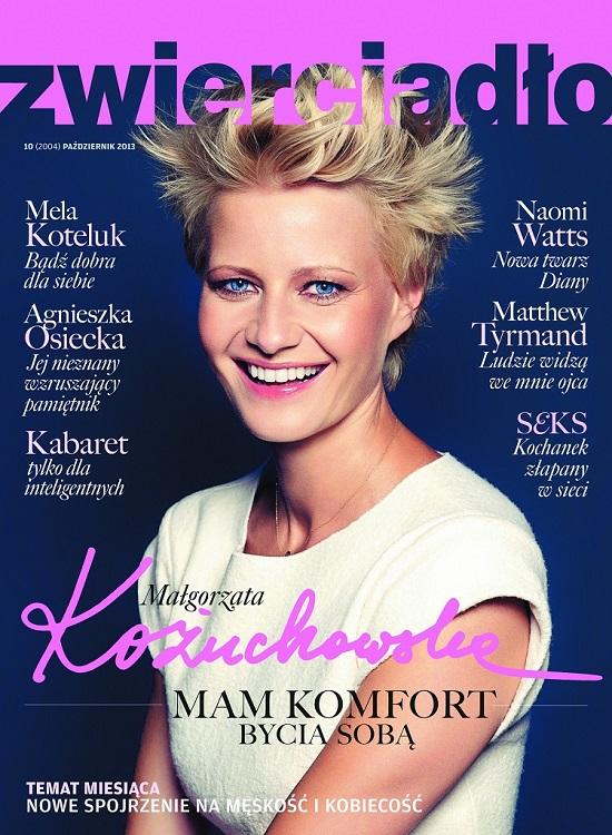 Małgorzata Kożuchowska na okładce magazynu Zwierciadło