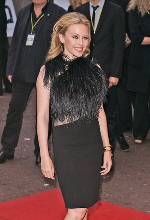 Kylie Minogue w sukience Gucci Fall 2010