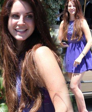 Fioletowa sukienka Lany Del Rey (FOTO)