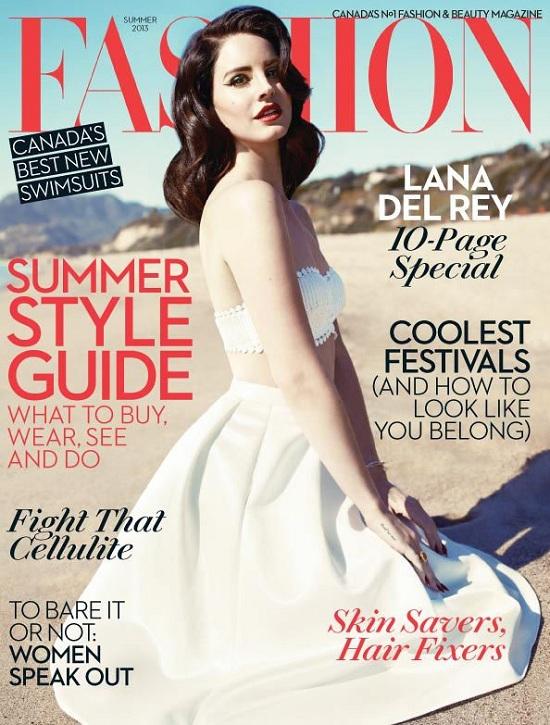 Lana Del Rey na okładce kanadyjskiego magazynu Fashion
