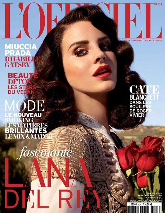 Lana Del Rey na okładce francuskiego L'Officiel