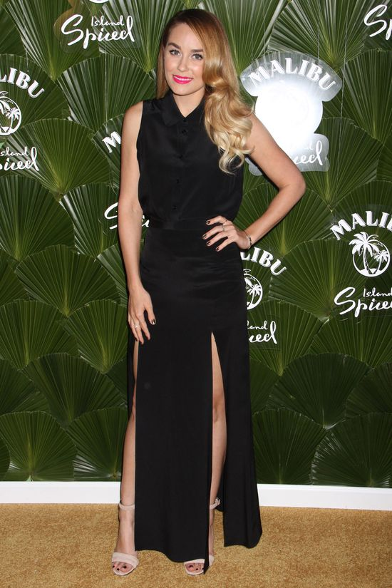 Lauren Conrad w czarnej sukience