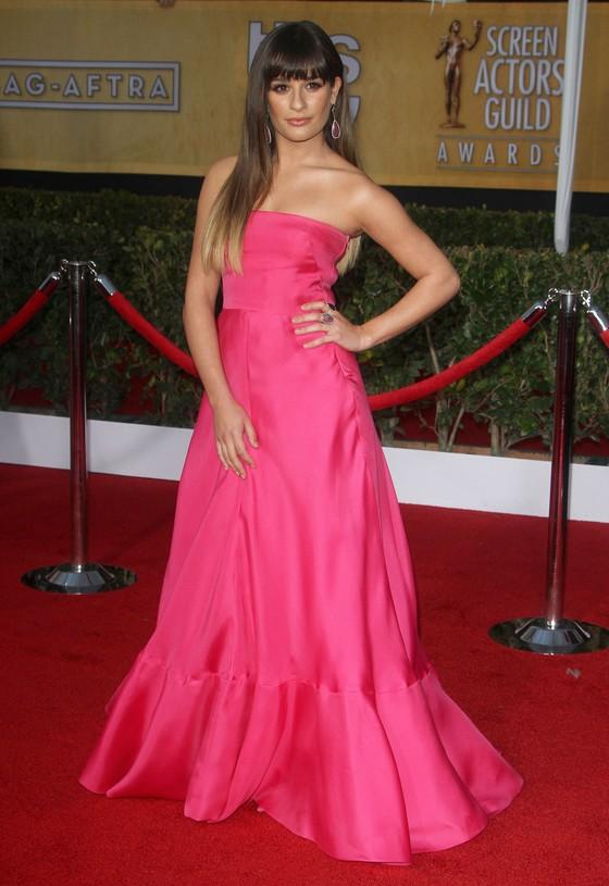 Lea Michele w różowej sukni