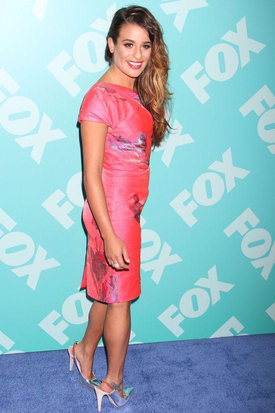 Lea Michele w różowej sukience