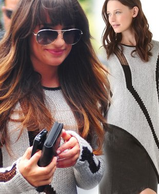 Lea Michele w asymetrycznym swetrze (FOTO)