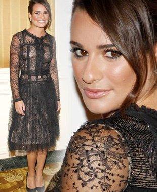 Lea Michele w sukience od Oscara de la Renta (FOTO)
