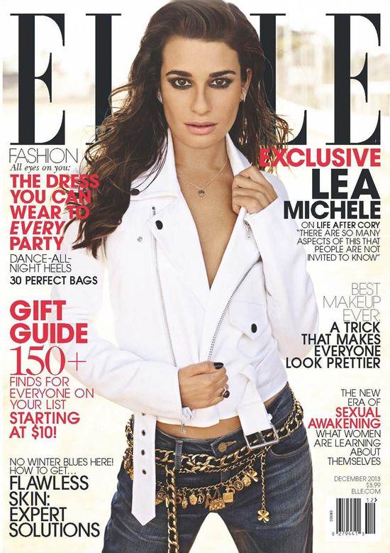 Lea Michele na okładce Elle US