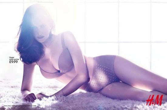 Laetitia Casta prezentuje bieliznę marki H&M