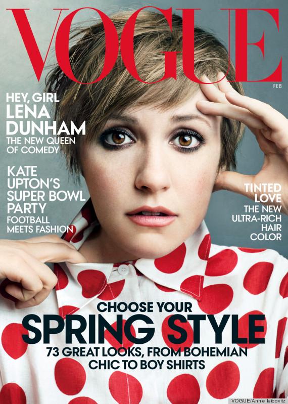 Lena Dunham zachwyca na okładce lutowego Vogue'a