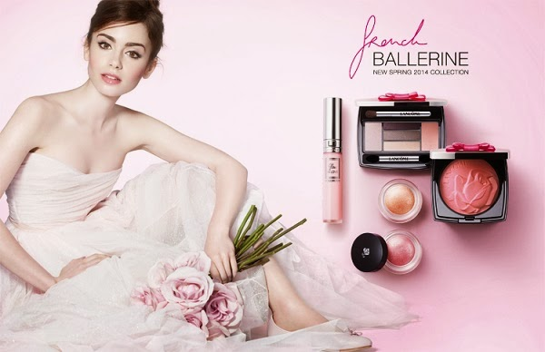 Lilly Collins for Lancôme French Ballerine