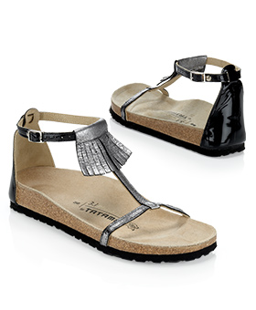 Sandały z grzywką