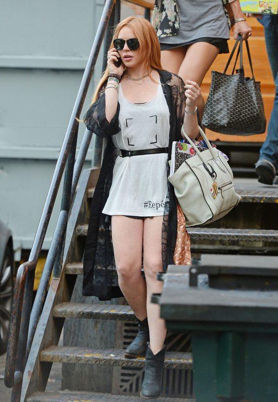 Miejski szyk w wydaniu Lindsay Lohan