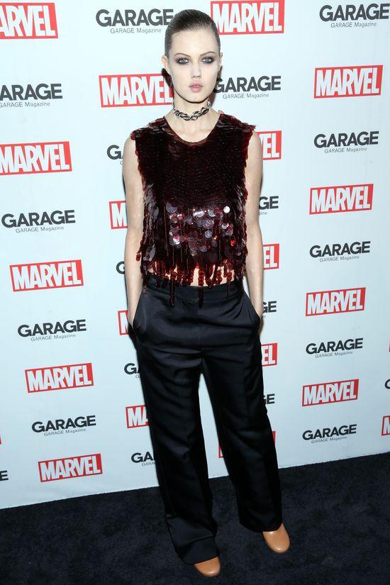 Modelki i gwiazdy na evencie Marvela podczas NYFW
