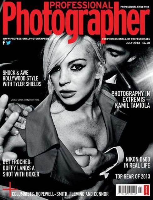 Lindsay Lohan na odważnej okładce Professional Photographer