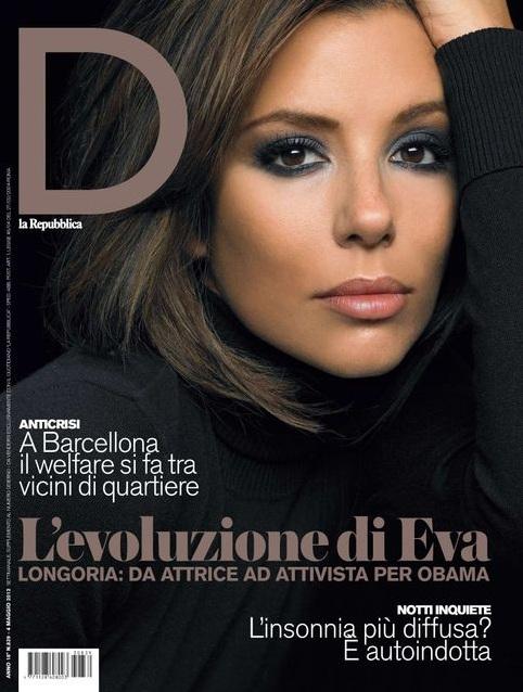 Skromna Eva Longoria na okładce D La Repubblica