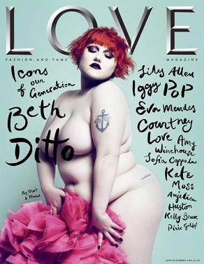 Beth Ditto nago dla Love Magazine