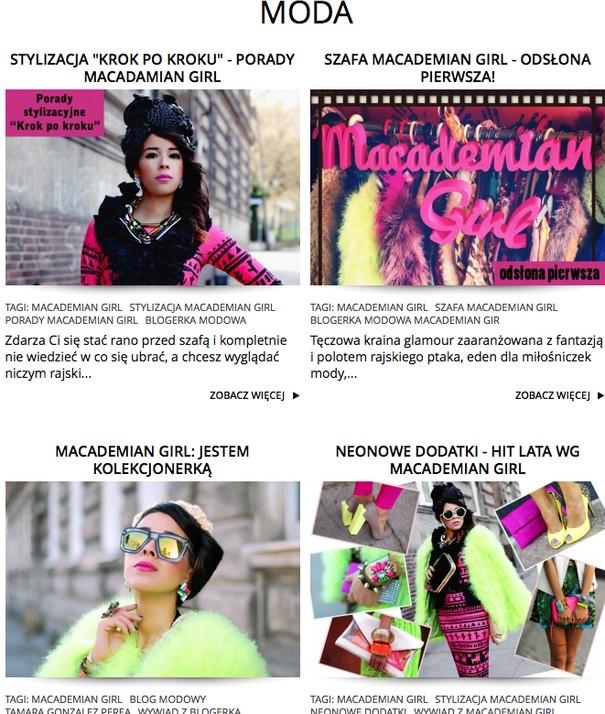 Macademian Girl redaktor naczelną portalu MilionKobiet.pl