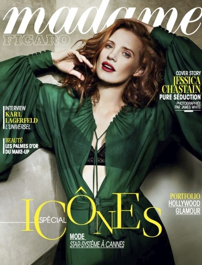 Jessica Chastain na okładce Madame Figaro