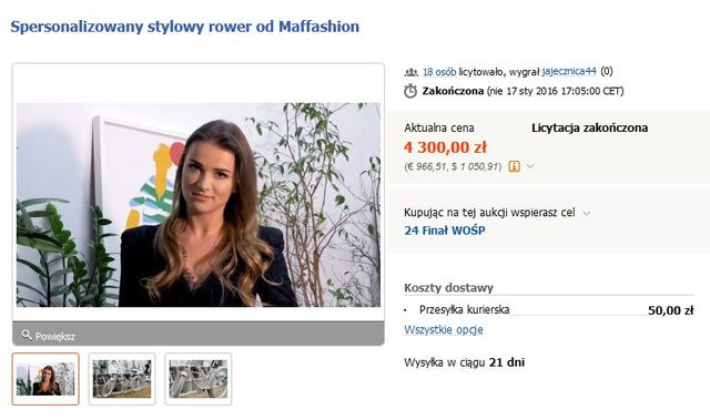 Blogerki modowe zebrały dla WOŚP małe fortuny