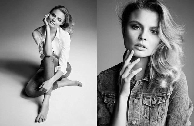 Magdalena Frąckowiak kolejny raz w jeansie dla Gina Tricot