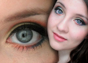 Kolorowy makijaż