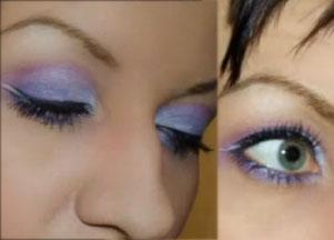 Makijaż w kolorach wrzosów
