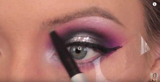 Makijaż na Sylwestra w odcieniach fioletu (FOTO)