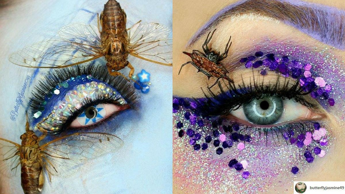 Wizażystka przykleja prawdziwe robaki i owady do twarzy! Co na to Internauci?