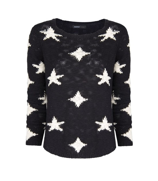 Zestaw w stylu gwiazd: sweter w gwiazdki