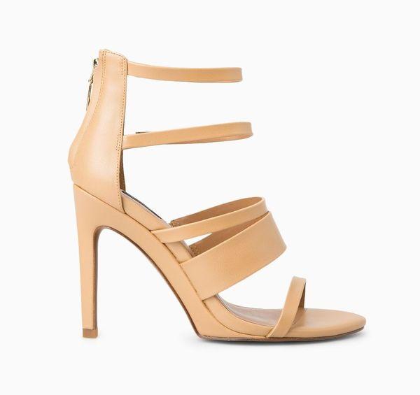 Wydłuż swoje nogi - sandały na obcasie w odcieniach nude