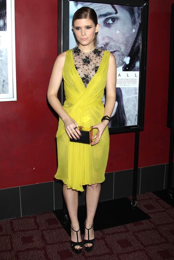 Kate Mara w żółtej sukience