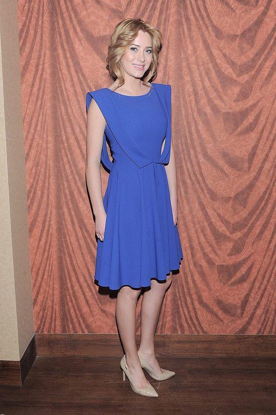 Marcelina Zawadzka w kobaltowej sukience (FOTO)