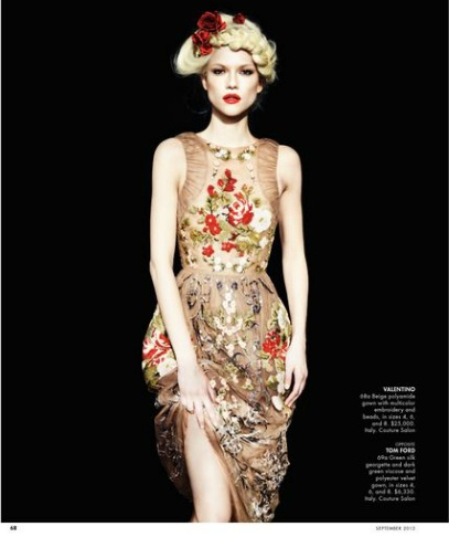 Kasia Struss i Iris Strubegger w katalogu Neiman Marcus