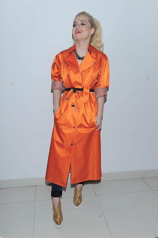 Margaret - pomarańczowy płaszcz
