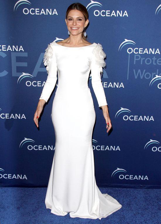 Maria Menounos w białej sukni Marchesa