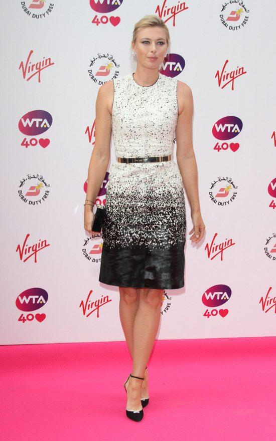 Maria Sharapova w Burberry Prorsum