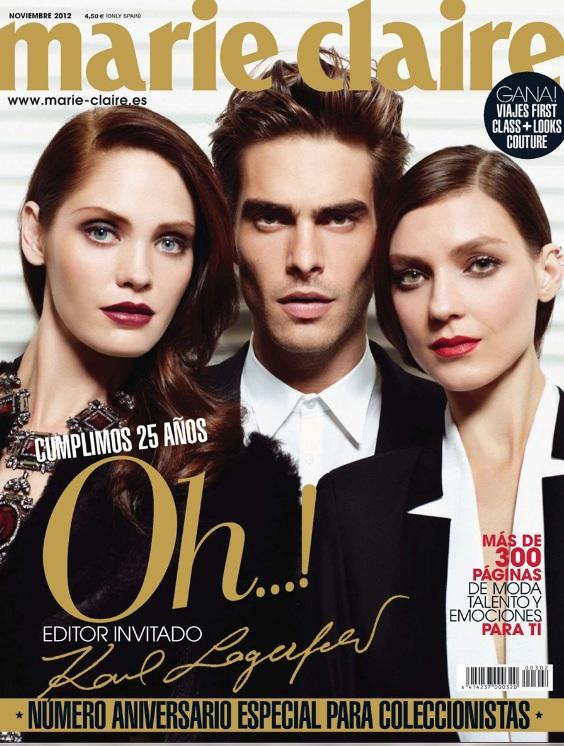 Ulubieni modele Karla Lagerfelda na okładce Marie Claire Spa