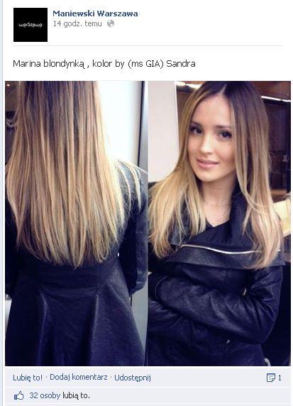 Marina pochwaliła się nowym kolorem na włosach (FOTO)