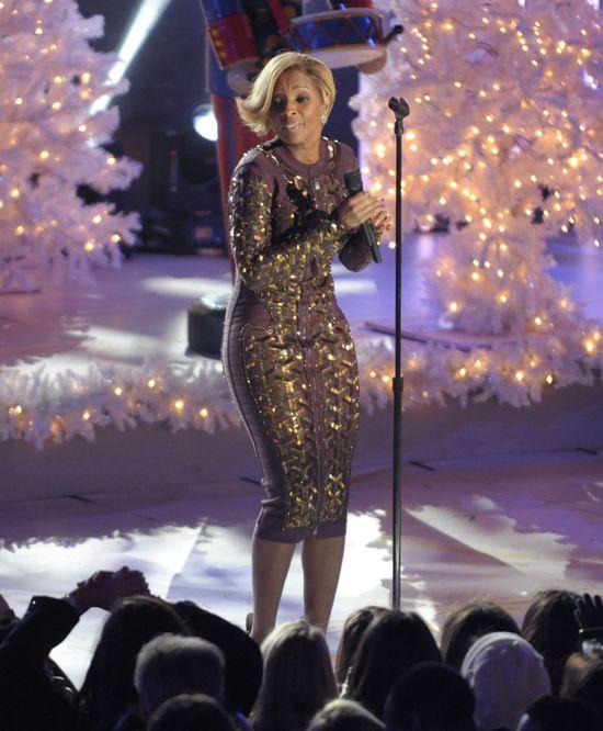 Gwiazdy na ceremonii podświetlenia choinki w Nowym Jorku