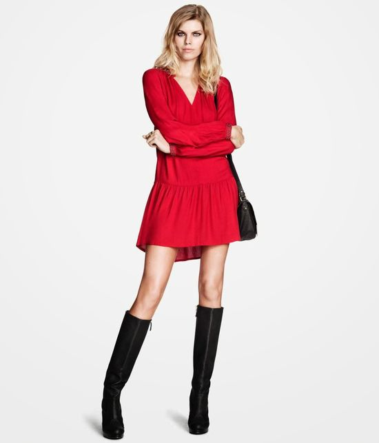 Maryna Linchuk w lookbooku H&M listopad 2013