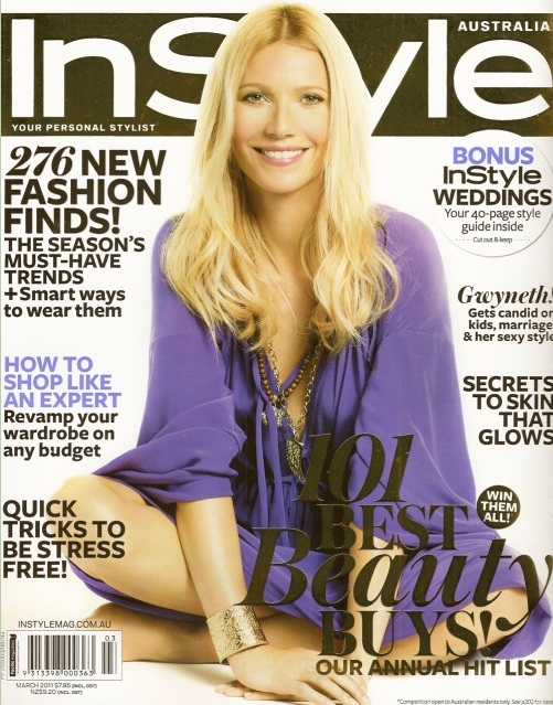 Gwyneth Paltrow na okładce InStyle UK