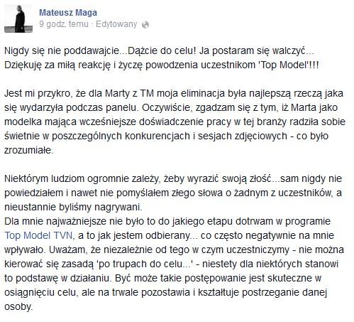 Marta Sędzicka: Cieszyłam się pod sufit, że Maga odpadł